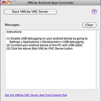 VMLite Android App Controller
